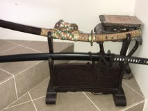 """Katana Stand for Two swords or """"Daisho """" in Okinawa, Japan"""