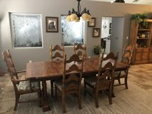 Oak Table, 6 chairs, China Cabinet in Nellis AFB, Nevada