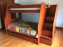 Berg Twin over Full Bunk Bed with Stairs 2 mattresses in Great Lakes, Illinois