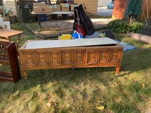 Real Wood Lowboy with Marble Top in Naperville, Illinois