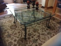 Glass Top Coffee Table With Matching Side Table in Beaufort, South Carolina
