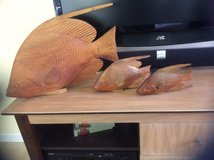 Decorative Wood Carved Fish in Beaufort, South Carolina