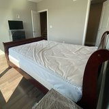Queen-sized bed with Mattress in mint condition, other items also available! Set from $150 to $120 in Philadelphia, Pennsylvania