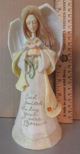 """November Birthday angel by Enesco """"God Smiled The Day You Were Born"""" in Conroe, Texas"""