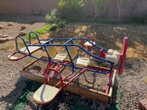 Airplane seesaw/teeter-totter in Nellis AFB, Nevada
