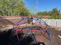 Lifetime Geometric Dome Climber Play Center in Nellis AFB, Nevada