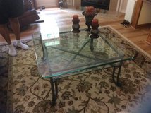Pair of Glass Top Tables Make Offer! in Beaufort, South Carolina