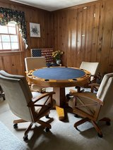 Poker Table and Chairs in Fort Lee, Virginia