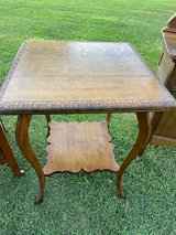 Antique Tiger Oak Lamp Table in Cherry Point, North Carolina
