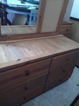 DRESSER WITH MIRROR SOLID WOOD FOR SALE in Kingwood, Texas