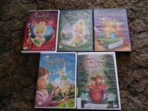 3 Tinker bell & 2 Thumbelina DVDS in Vacaville, California