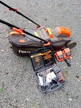 FUXTEC 20v lawnmower and drill in Ramstein, Germany