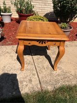 Pine end table in Naperville, Illinois