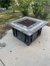 Fire table in Naperville, Illinois