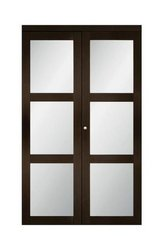 """Lite Frosted 36"""" Glass Espresso Finished Bi-Fold Closet Door - New! in Naperville, Illinois"""