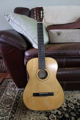 Vintage Kay Classical Nylon String Acoustic Folk Guitar with chip board case in Naperville, Illinois