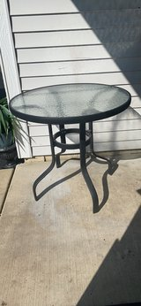 """patio metal high table. 28""""h. in Naperville, Illinois"""