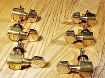 Schaller Gold Plated Tuning Keys 3x3, Made in West Germany in Alamogordo, New Mexico