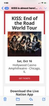 6 KISS CONCERT TICKETS in Naperville, Illinois