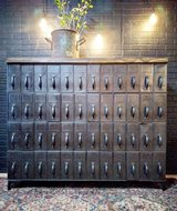 Antique Metal 48 drawer Court File Catalog in Naperville, Illinois