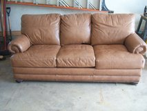 Bassett Leather Couch-Lightly used in Naperville, Illinois