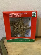 New Gold Christmas Tree Topper in Kingwood, Texas