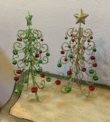 Two Glittery Christmas Tree Decorations in Kingwood, Texas