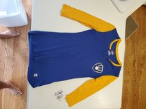 Milwaukee Brewers Woman's 3/4 length Sleeve Size S Blue/Gold Shirt Majestic Brand ~ Genuine MLB ... in Brookfield, Wisconsin