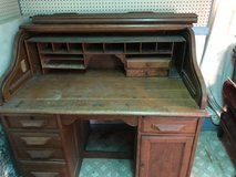 Antique roll top desk. Needs TLC in Naperville, Illinois