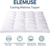 Pillowtop Cooling Mattress Topper - King Size - New! in Joliet, Illinois