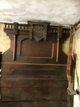 Antique headboard, separate footboard , mirror frame in Naperville, Illinois