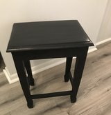 Farmhouse Black painted end table in Naperville, Illinois