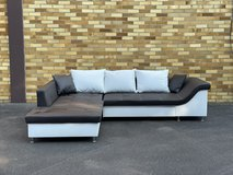 White/Brown Couch (unused/new) in Ramstein, Germany