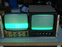 """A PAIR OF 9 """" COLOR MONITORS IS A RACK MOUNT FRAME in Naperville, Illinois"""