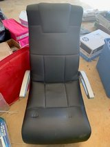 Black Leather Floor Gaming Chair with Armrests in Warner Robins, Georgia