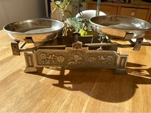 Antique Balance Scale with weights in Stuttgart, GE