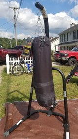 Punching bag, stand and gloves in Fort Campbell, Kentucky