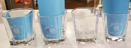 4 Brand New Never Used JIM BEAM BLACK Whiskey Bourbon Rock Glasses NOS in Brookfield, Wisconsin