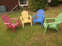 4 comfy plastic chairs in Ramstein, Germany