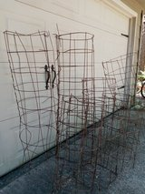 Tomato cages in Kingwood, Texas