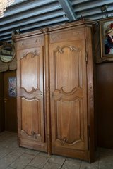 tall tiger oak armoire from a chateau in Stuttgart, GE