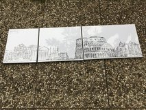 Rome 3 piece framed drawing in Ramstein, Germany