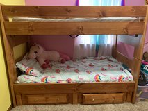 Twin over twin bunk bed bedroom set in Conroe, Texas