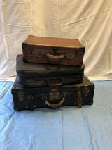Vintage Leather Luggage (3) in Naperville, Illinois