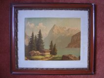 Painting (print on canvas) of the Uri Rothstock mountain (Switzerland) in Wiesbaden, GE