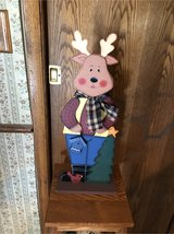 Rudy the wooden reindeer in Naperville, Illinois