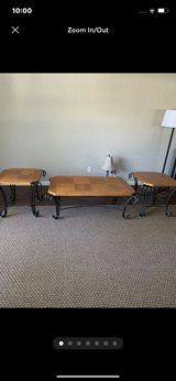 3 Beautiful Elegant Light Brown Color Tables With Metal Design in San Diego, California
