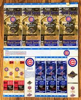 CHICAGO CUBS 1995 PHANTOM PLAYOFF & WORLD SERIES TICKETS - COMPLETE UNCUT SHEET in Naperville, Illinois