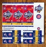 CHICAGO CUBS 1998 PHANTOM PLAYOFF & WORLD SERIES TICKETS - COMPLETE UNCUT SHEET in Naperville, Illinois