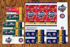 CHICAGO CUBS 1998 TIE BREAKER + DIVISION SERIES + PHANTOM PLAYOFF & WORLD SERIES TICKETS +++ in Naperville, Illinois